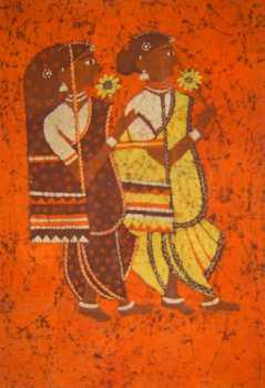 Batik art paintings